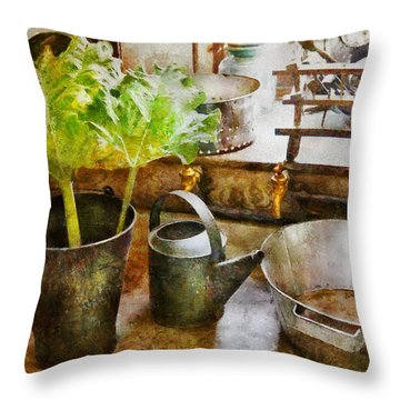 Sink - Eat Your Greens Throw Pillow by Mike Savad