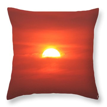 Sinking Into Clouds Throw Pillow