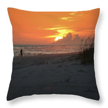 Throw Pillow featuring the photograph Sinking Into The Horizon by Renee Hardison