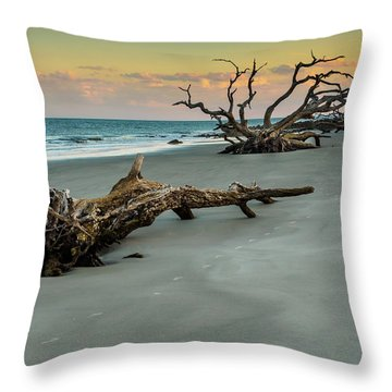 Throw Pillow featuring the photograph Sunset On Jekyll Island by Louis Dallara