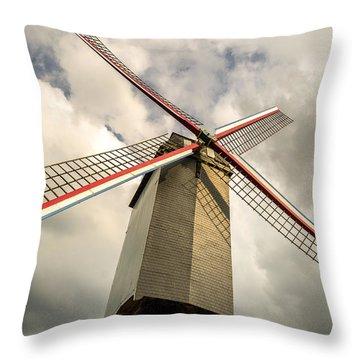 Sint Janshuismolen Windmill 2 Throw Pillow