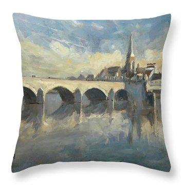 Sint Servaas Bridge Maastricht Throw Pillow