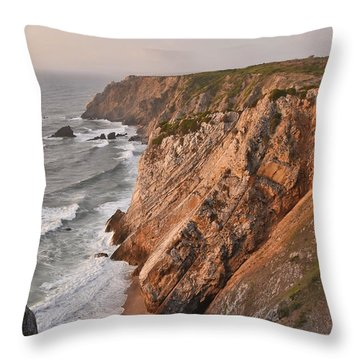 Throw Pillow featuring the photograph Sintra Portugal Coast by Marek Stepan