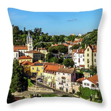 Sintra - The Most Romantic Village Of Portugal Throw Pillow