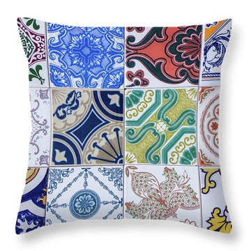 Throw Pillow featuring the photograph Sintra Tiles by Carlos Caetano