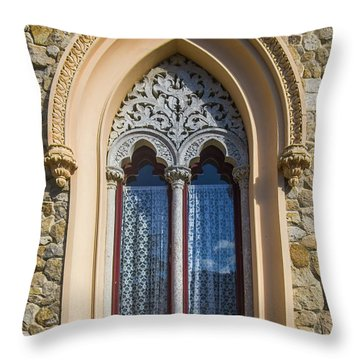 Throw Pillow featuring the photograph Sintra Window by Carlos Caetano