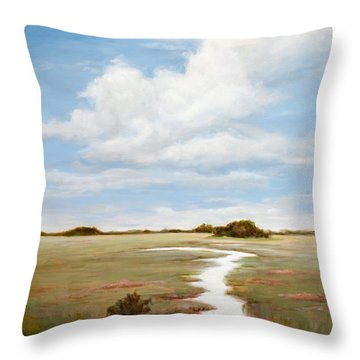 Sinuous Marsh Throw Pillow