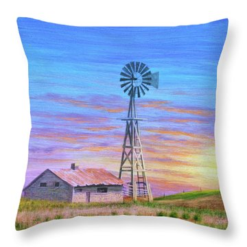Sioux County Sunrise Throw Pillow by J W Kelly
