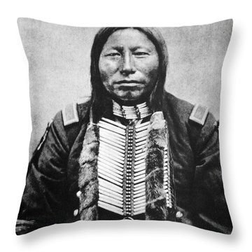Sioux: Crow King Throw Pillow by Granger