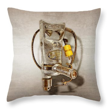 Sioux Drill Motor 1/2 Inch Throw Pillow