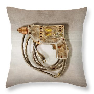 Sioux Drill Motor 1/4 Inch Throw Pillow