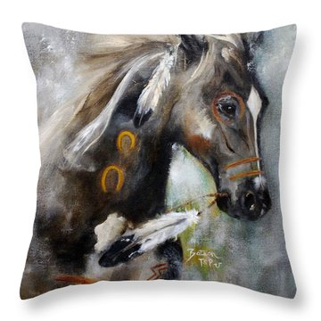 Sioux War Pony Throw Pillow