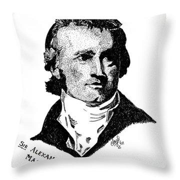 Sir Alexander Mackenzie Throw Pillow