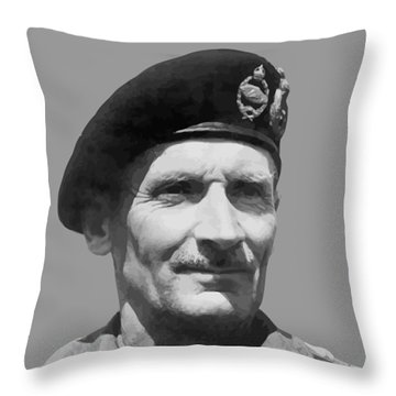 Sir Bernard Law Montgomery  Throw Pillow by War Is Hell Store