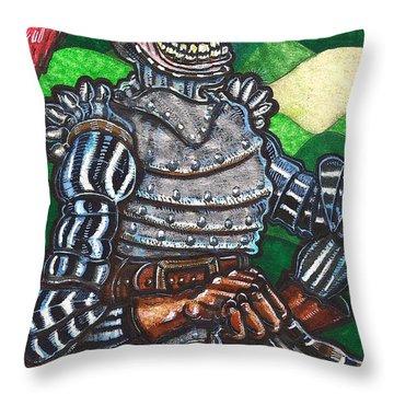 Sir Bols The Black Knight Throw Pillow by Al Goldfarb
