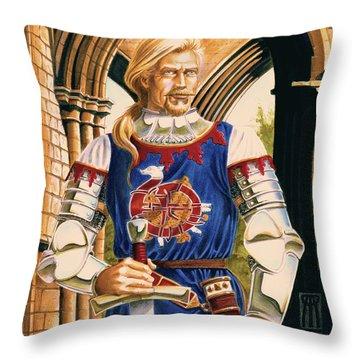 Sir Dinadan Throw Pillow by Melissa A Benson