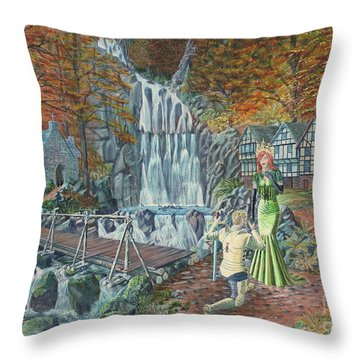 Sir Galahad Becomes Queen's Champion Throw Pillow