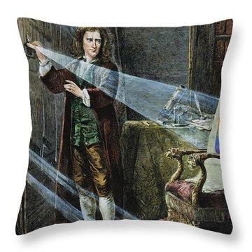 Sir Isaac Newton Throw Pillow by Granger