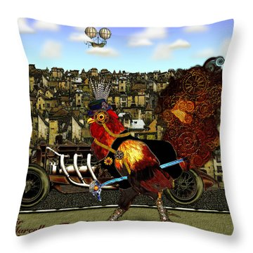Sir Marcellus Thaddeus Cluckington Throw Pillow