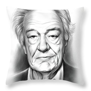 Sir Michael Gambon Throw Pillow
