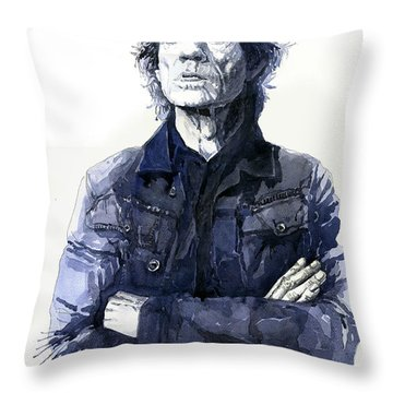 Sir Mick Jagger Throw Pillow