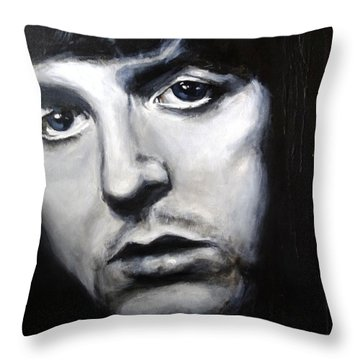 Throw Pillow featuring the painting Sir Paul Mccartney by Eric Dee