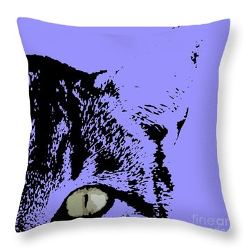 Sir Rodgerson On Purple Background Throw Pillow