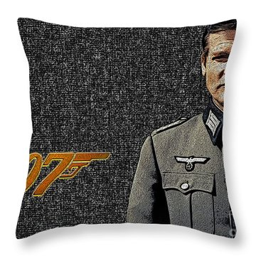 Sir Roger Moore Throw Pillow