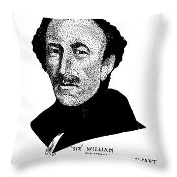 Sir William Drummond Stewert Throw Pillow