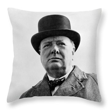 Sir Winston Churchill Throw Pillow by War Is Hell Store