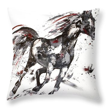 Siren Throw Pillow by Penny Warden