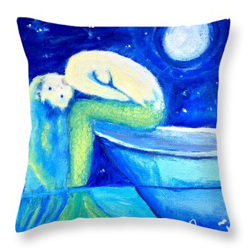 Siren Sea Throw Pillow
