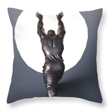 Sisyphus Lamp Throw Pillow