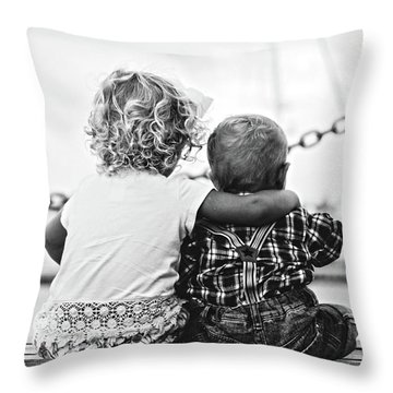 Sister And Brother Throw Pillow