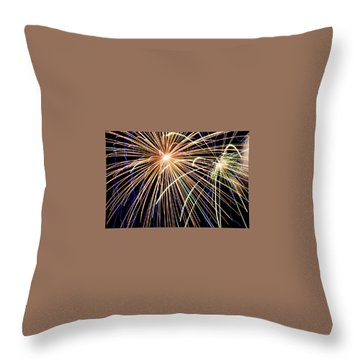 Sister Bay Fireworks Throw Pillow