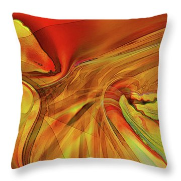 Throw Pillow featuring the digital art Sister Bengal by Steve Sperry