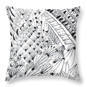 Sister Tangle Throw Pillow