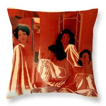 Sisters We Are Family Throw Pillow