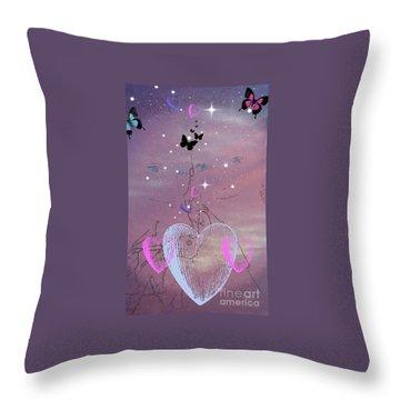 Sisterly Love Throw Pillow by Diamante Lavendar