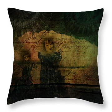 Sisters At The Shore Throw Pillow
