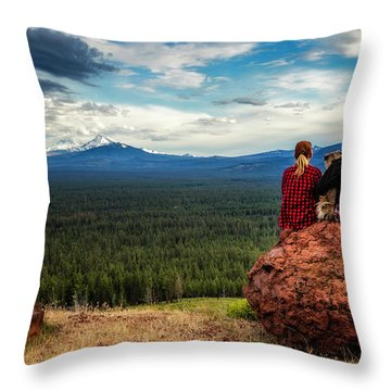 Throw Pillow featuring the photograph Sisters by Cat Connor