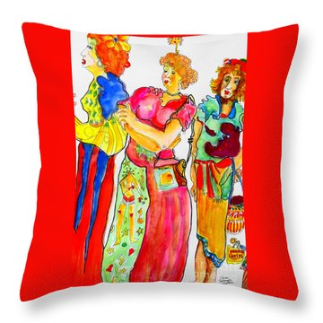 Sisters Throw Pillow by Claire Sallenger Martin