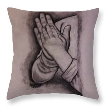 Sisters' Hands Throw Pillow by Christy Saunders Church