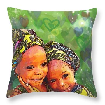 Sisters Love Throw Pillow