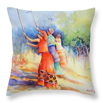 Sisters Of Earth Throw Pillow