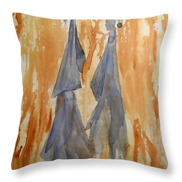 Sisters Throw Pillow by Vicki  Housel