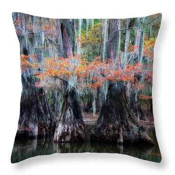 Sisters Wading Throw Pillow