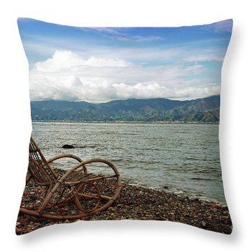 Sit Back And Enjoy Throw Pillow