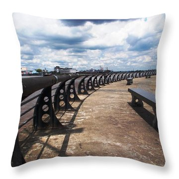 Sit Under The Clouds Throw Pillow by Momos Nainggolan