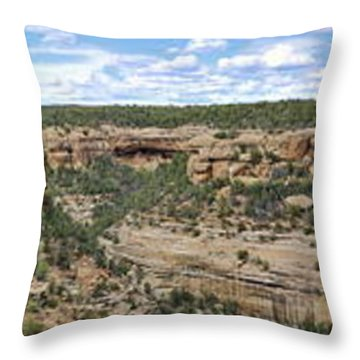 Sites At Mesa Verde Throw Pillow